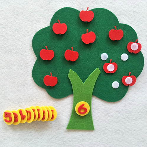 Children Education Cognitive Apple Tree