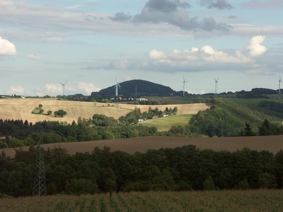 Blick vom Berreuther Lindenweg zum Luchberg, 28.08.2011
