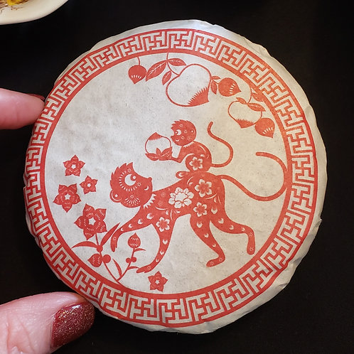 2016 Red Monkey Sheng Cake at Blue Heron Tea Traditions