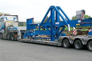 Tieflader für Transportgut mit hohem Stückgewicht