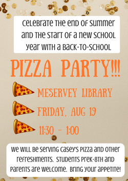 Back-to-School Pizza Party 2016