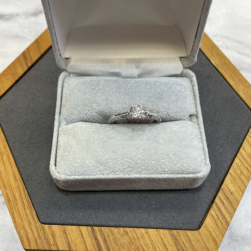 14k custom .49 ct diamond ring