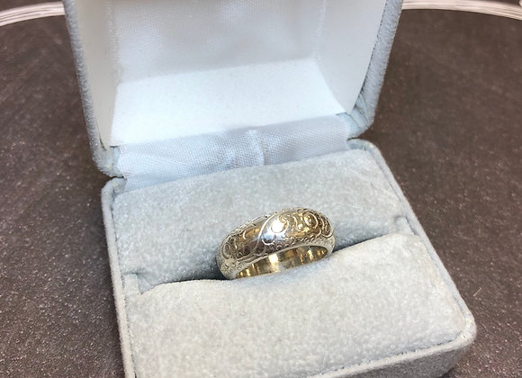 Sterling Silver Floral Ring, size 5.5