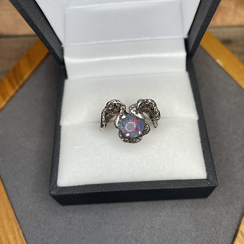 Sterling Opal ring, size 5.5