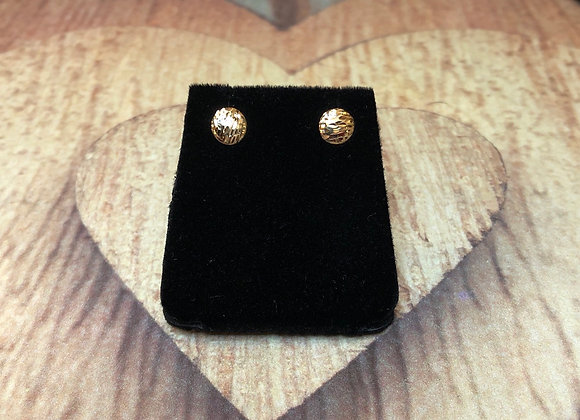 14k Gold Round Earrings