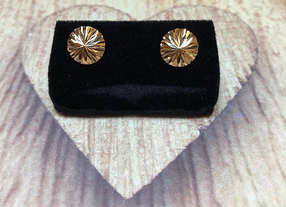 14k Gold Round Earrings