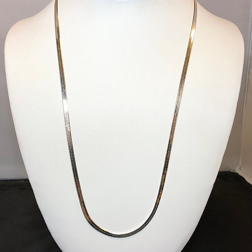"""Sterling Silver Herring Necklace - 22"""""""