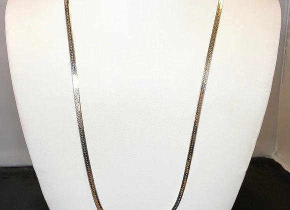 Sterling Silver Herring Necklace - 22""