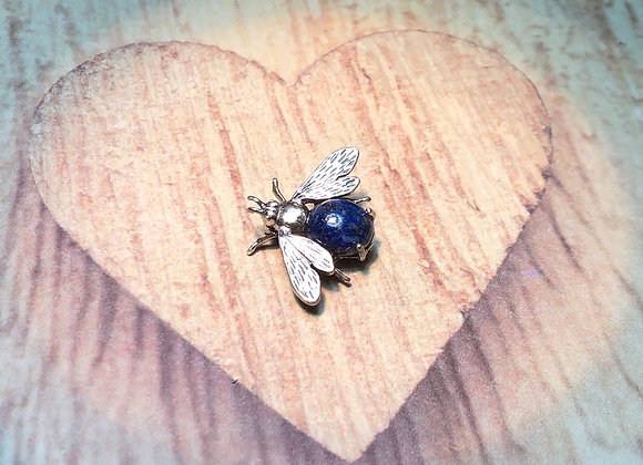 Sterling Silver Lapis Bee Pin