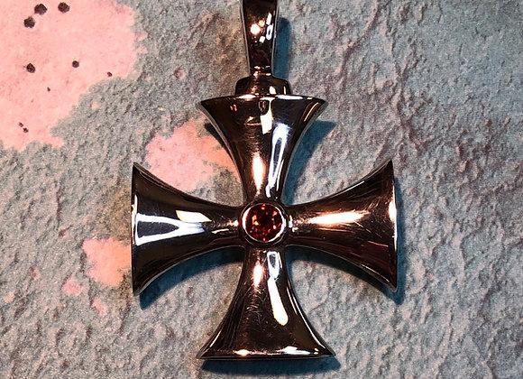 Sterling Silver Cross Pendant - KC Studio