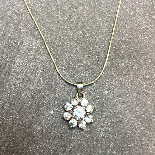 Sterling silver pendant with cz's