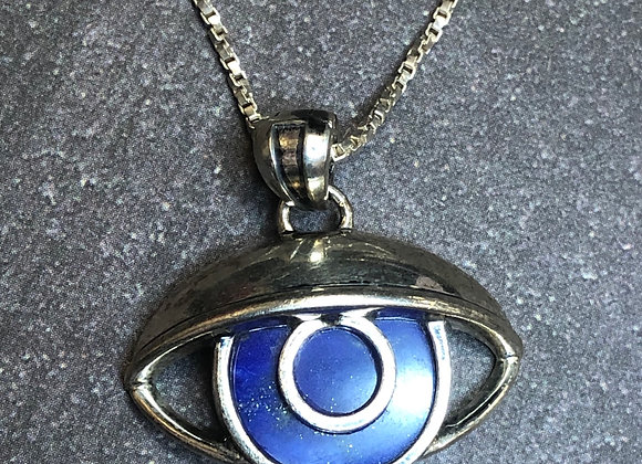 Sterling silver lapis eye