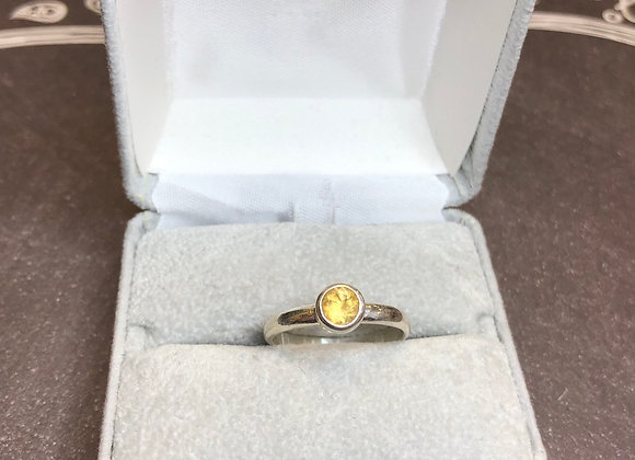 Sterling silver Citrine ring, size 9
