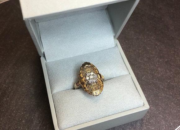 14k gold diamond ring, .30 ctw, size 4.5