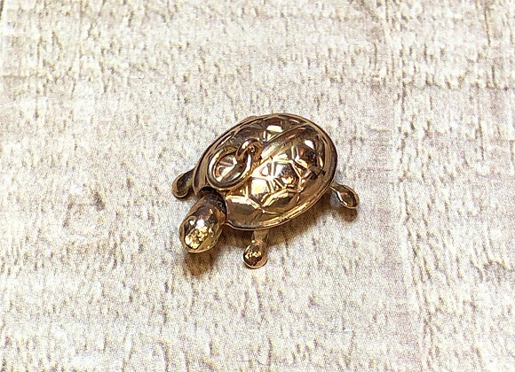 14k Gold Turtle Charm