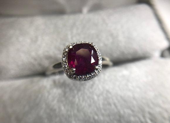 14k 1.81 carat Ruby Ring, size 7