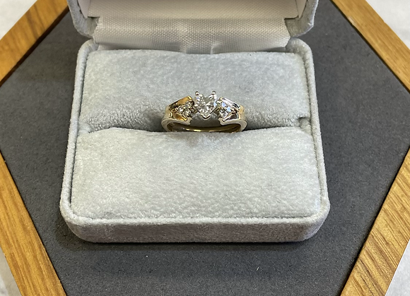 14k gold heart engagement ring