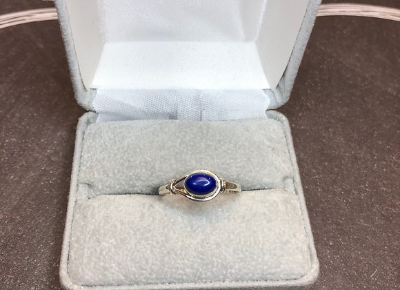 Sterling silver ring with Blue Lapis, size 8.5