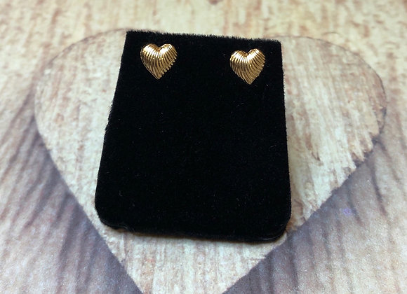 14k Gold Heart Earrings