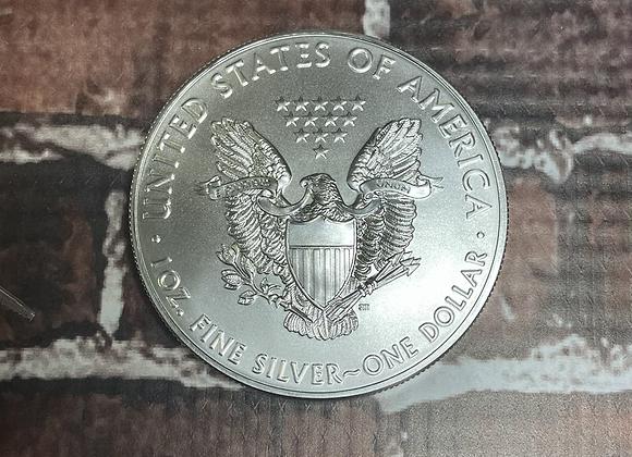 2021 uncirculated American Eagle, 1 ounce silver coin