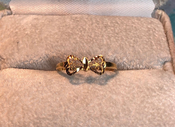 14KT Gold Bow Tie Ring