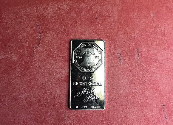 Vintage Mini Bar US Bicentennial 9.5gram Bar