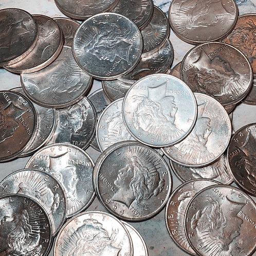 Circulated Peace Silver Dollars