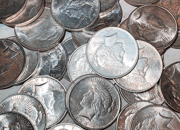 Circulated Peace Silver Dollars