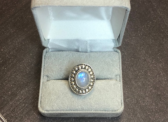 Sterling silver Moonstone ring, size 6