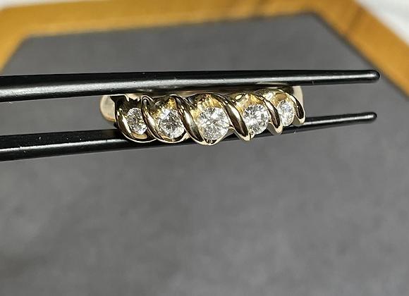 14k band .50 ctw diamonds