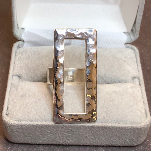 Sterling silver vertical ring, size 7