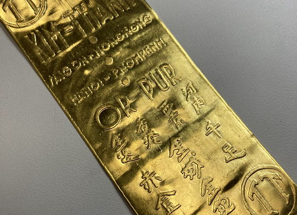 "Kim Thanh .48ozt Gold Wafer ""Bar"""