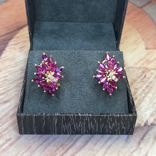14k earrings with pink sapphires