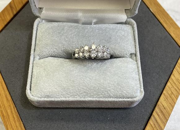14k white gold ring 1.0 ctw diamonds