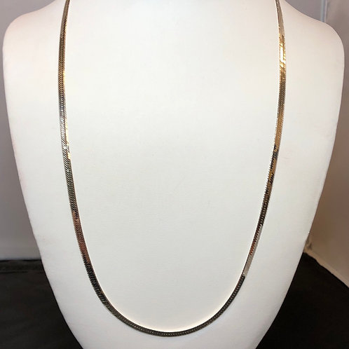 """Sterling Silver Herring Necklace - 24"""""""