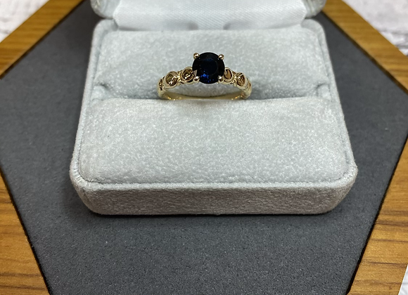 14k ring with 1.12 sapphire, size 6.5