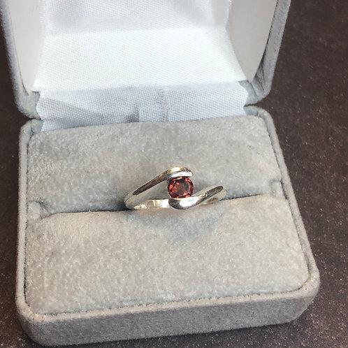 Sterling silver garnet ring, size 6.5