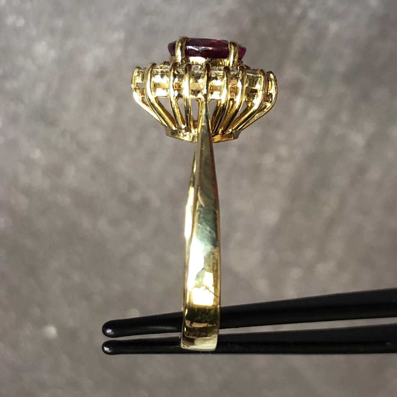 Thumbnail: 18k 1.0 carat pink sapphire ring, size 6.25