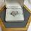 Thumbnail: Diamond heart shaped ring 14k