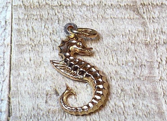 14k Gold Seahorse Charm