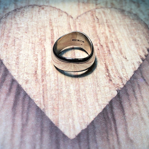 Sterling Silver Curved Band