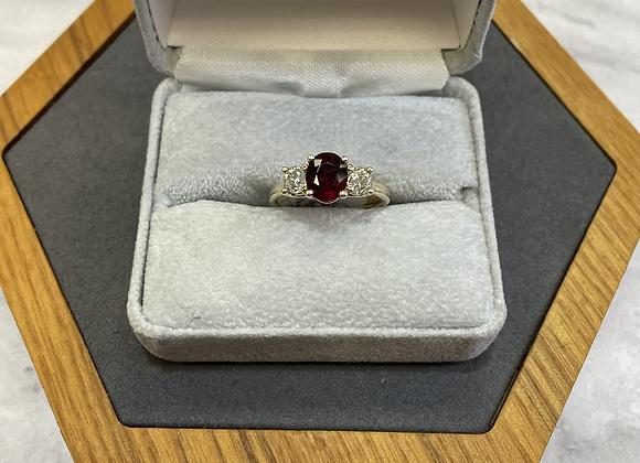 14k custom Ruby ring, size 7