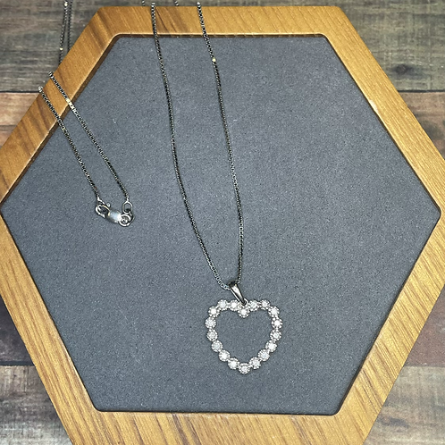 """14k heart necklace with 24"""" chain"""