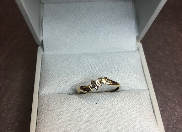 10k gold star ring, size 6.5