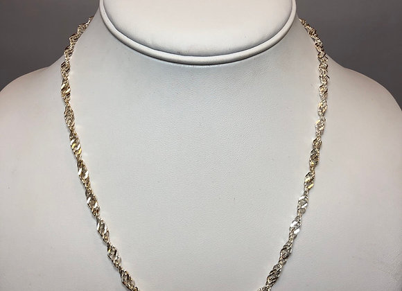 Sterling Silver Braided Link Necklace - 16""