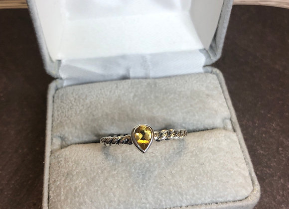 Sterling sterling ring with citrine, size 9
