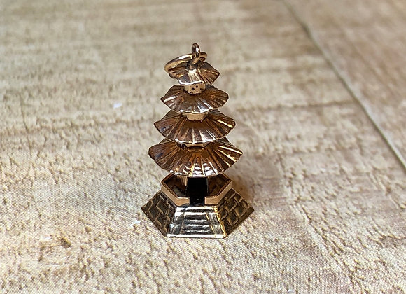 14k Gold Tower Charm