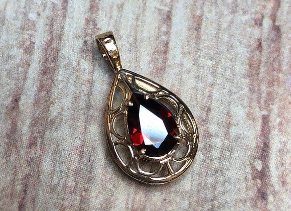 10k pendant with 1.25 carat Garnet