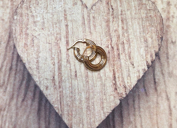 14k Gold Round Clip Earrings