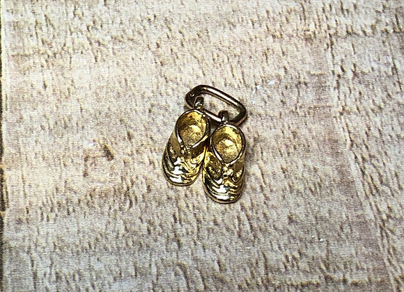 14k Gold Baby Shoes Charm